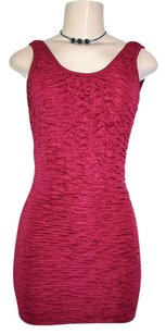 Arden B. B Burgundy Ruched Dress