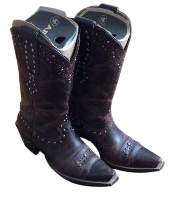 200f01df8812 Ariat Brown Women s Rhinestone Cowgirl Boots Booties Size US US US 6.5  Regular (M
