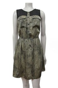 Ark & Co. short dress beige black Co Urban Outfitter Printed Shirt Pockets At Bust on Tradesy