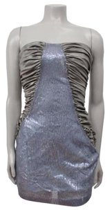 Ark & Co. Co Sequin Panel Ruched Sides Bodycon Strapless Dress