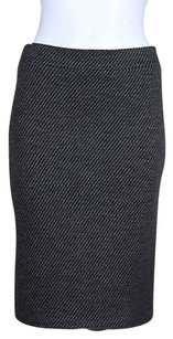 Armani Collezioni Womens Pencil Med Wool Career Skirt Gray