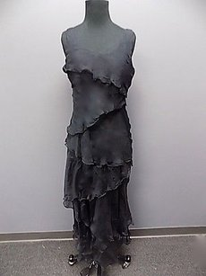 Armani Collezioni Silk Tiered Lined Sleeveless Full Length 859a Dress