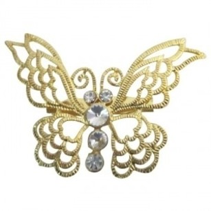 Artistically Designed Golden Butterfly Affordable Brooch Gift Jewelry