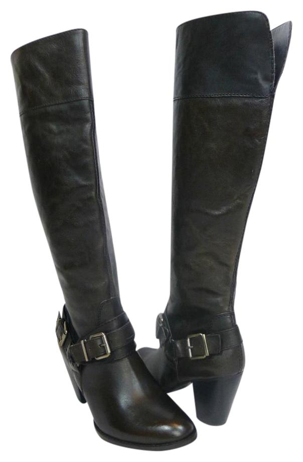 Arturo Chiang Bown Vala Leather US Knee High Boots/Booties Size US Leather 6.5 Regular (M, B) ddd197