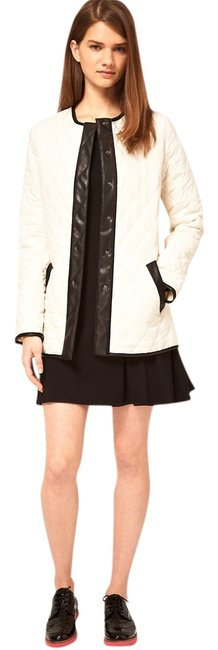 ASOS Leather Faux Leather Quilted Coat