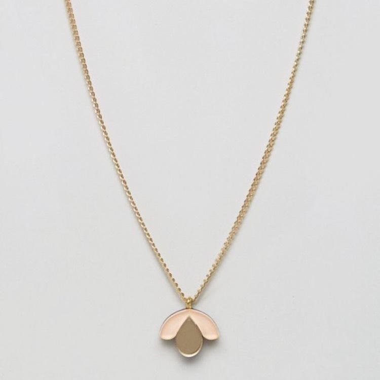 ASOS Gold Wolf and Bloom Necklace Tradesy