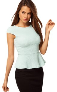 ASOS Top COLLECTION MINT PEPLUM TEXTURED STRETCHY TOP