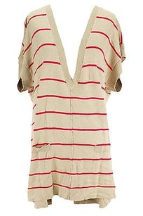 August Silk Striped Womens Sweater