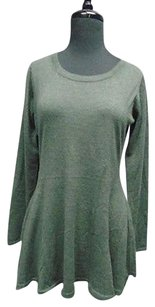 Autumn Cashmere Stretchy Long Sleeve Thin Knit Flare Tunic 2232a Sweater