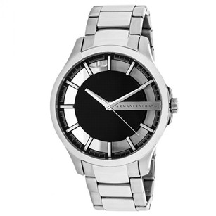 A|X Armani Exchange Armani Exchange Smart Black Dial Silver Stainless Steel Skeleton Watch Ax2179