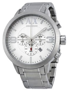 A|X Armani Exchange AX1278 ARMANI EXCHANGE Chronohraph Silver Dial Stainless Steel Men's Watch