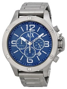 A|X Armani Exchange AX1512 ARMANI EXCHANGE Chronograph Blue Dial Stainless Steel Men's Watch