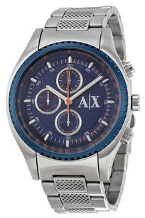 A|X Armani Exchange Blue Dial Chronograph Stainless Steel Men's Watch