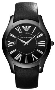 A|X Armani Exchange Emporio Armani Sportivo Men's Black Leather Strap Watch AR2059