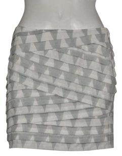 A|X Armani Exchange Womens Printed Pencil Above Knee Casual Skirt Gray