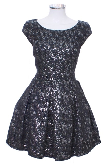 A|X Armani Exchange Zippers A-line Sleeveless Fitted Fishnet Dress