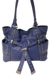 B. Makowsky Leather Studded Shoulder Bag