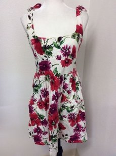 B. Smart short dress Multi-Color Flower Print Garden Style Tank Sleeveless on Tradesy