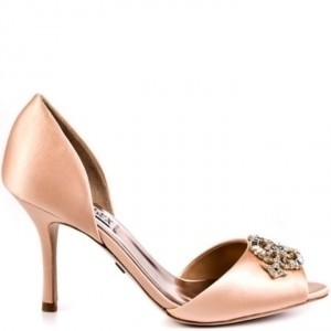 peach wedding shoes badgley mischka new badgley mischka salsa peep toe 6411