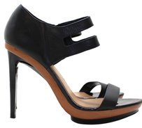 Badgley Mischka Sexy Leather Couture Black Platforms