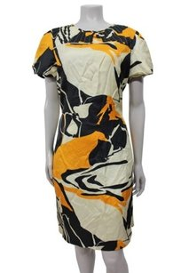 Badgley Mischka Beige Multi Dress