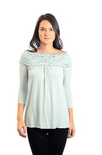 Bailey 44 Light Shirred Top Blue