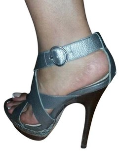 Bakers Silver Pumps