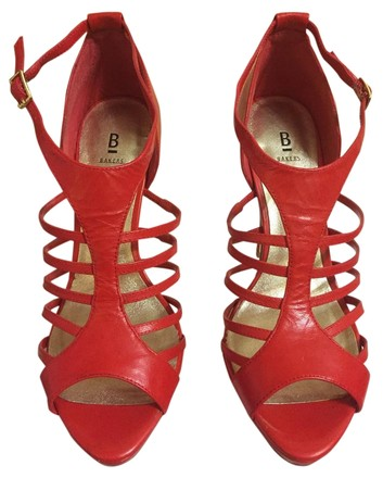 Bakers Strap Heels Red Sandals