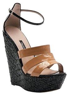 Baldan Patent/nude BLACK Sandals