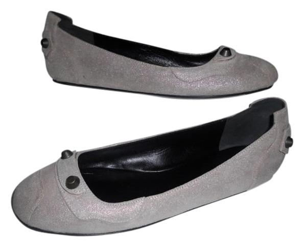 Balenciaga Metallic Suede Flats free shipping sale online visit for sale cheap 100% authentic outlet best sale cheap recommend ypp5bxXxzY