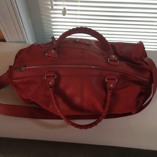 Balenciaga Red Travel Bag