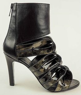 Balenciaga Leather Strappy Gladiator Sandals Heels Black Pumps