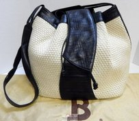 Bally Italy Natural Woven Tote in Ivory