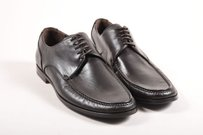Mens Bally Black Leather Z Vigasio Lace Up Dress Shoes