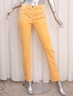 Balmain Womens Casual Yellow Straight Leg Jeans