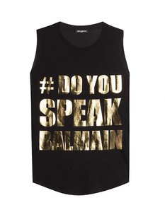 Balmain Top Black/Gold