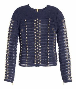 Balmain x H&M Hm Navy Rope Gold Sweater