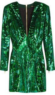 Balmain X H&m Sequin Embroidered Dress