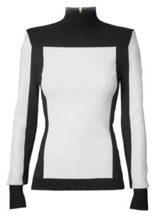 Balmain x H&M Top Black and white with gold zipper detail