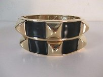 Banana Republic Banana Republic Black Enamel Pyramid Hinged Bracelet Cuff