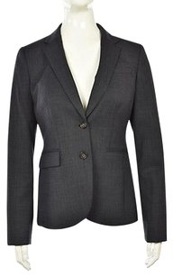 Banana Republic Banana Republic Womens Navy Textured Blazer Wool Long Sleeve Career Jacket