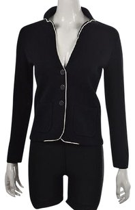 Banana Republic Banana Republic Womens Petite Navy Blazer Wtw Textured Jacket