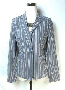 Banana Republic Banana Republic Chambray Pin Striped School Boy Blazer