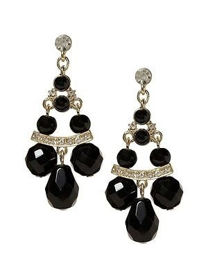 banana republic deco black chandelier earrings chasing davies may 2010