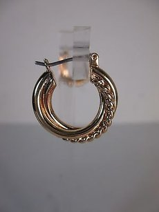 Banana Republic Banana Republic Gold Rope Shiny Hoop Earrings