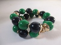 Banana Republic Banana Republic Mad Men Blue Green Double Strand Bracelet