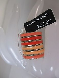 Banana Republic Banana Republic Peach Enamel Stackable Ring