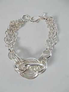 Banana Republic Banana Republic Silver Three Strand Knotted Dainty Bracelet