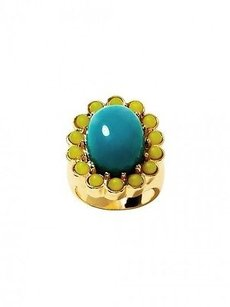 Banana Republic Banana Republic Trina Turk Blue Green Enamel Bubble Ring