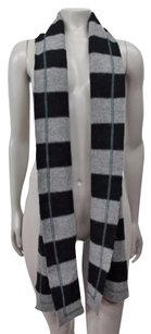 Banana Republic Banana Republic Gray Black Striped Lambswool Cashmere Scarf One